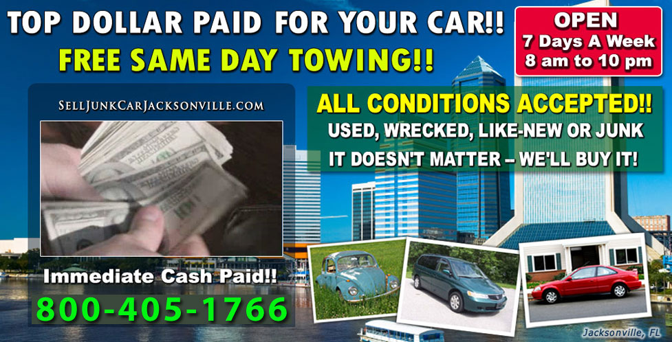 Free Junk Car Towing and Removal Jacksonville | Sell Junk Car ...